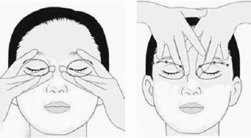 Trị nhức mỏi mắt bằng cách day huyệt toản trúc